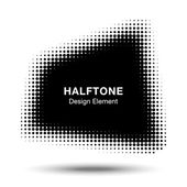 Abstract Halftone Design Element — Stock Vector
