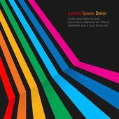 Rainbow stripes on dark background. — Stock Vector