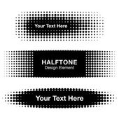 Abstract Halftone Design Elements — Stock Vector