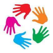 Hand Print icon logo — Stock Vector