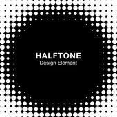 Black Abstract Halftone Design Element — Stock Vector