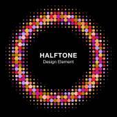 Colorful Bright Halftone Circle — Vector de stock