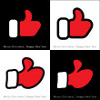 Set of red mitten thumb up icons — Stock Vector #53972717