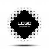 Abstract Halftone Logo Design Element — Stock Vector