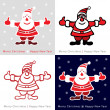Set of Colorful Santa Claus cards for your design — Stock Vector #54218231
