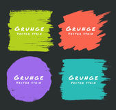Set of Hand Drawn Flat Grunge Stains on Dark Background. — Stock Vector