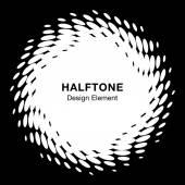 White Abstract Halftone Design Element — Vetorial Stock