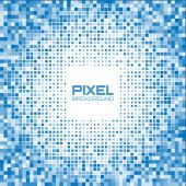 Abstract blue pixel background — Stock Vector