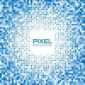 Soyut mavi piksel arka plan — Stok Vektör