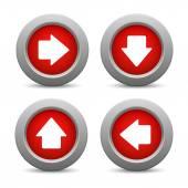 箭头按钮设置 — 图库矢量图片