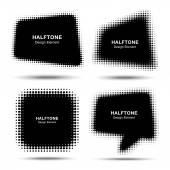 组的抽象半色调设计元素 — 图库矢量图片