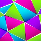 Streszczenie papier kolorowy trójkąt tło — Wektor stockowy