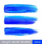 Colorful watercolor brush strokes on canvas — Stock Vector