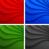 Set of Colorful Wavy backgrounds. — Stock Vector