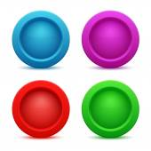 Set of colorful web buttons — Stock Vector