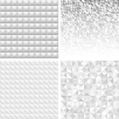 Set of Abstract Gray Geometric Backgrounds — Vector de stock