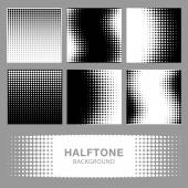 Set of Abstract Halftone Backgrounds. — Stock Vector
