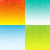 Set of Colorful Abstract Halftone Background — Stock Vector