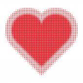 Valentine Heart Halftone — Stockvector