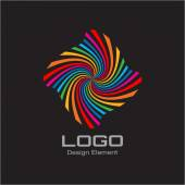 Colorful Bright Rainbow Spiral Logo. — Stock Vector