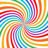Colorful Bright Rainbow Spiral Background. — Stock Vector