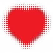 Red Heart Halftone logo — Διανυσματικό Αρχείο