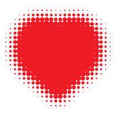 Red Heart Halftone logo — Stok Vektör