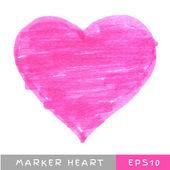 Pink Felt Pen Heart — Διανυσματικό Αρχείο