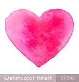 ροζ καρδιά ακουαρέλα — Διανυσματικό Αρχείο