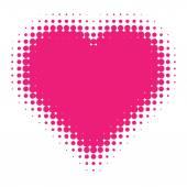 Pink Halftone heart. — Vector de stock