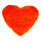 Kırmızı keçeli kalem kalp — Stok Vektör
