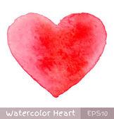 Kırmızı sulu boya kalp — Stok Vektör