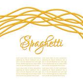 Realistic Twisted Spaghetti Pasta — Stock Vector