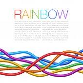 Rainbow Twisted Bright Vibrant Wares — Stock vektor