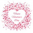 Frame of many hearts - Valentines Day — Stock Vector #62345635