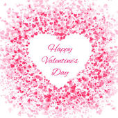 Frame of many hearts - Valentines Day — Cтоковый вектор