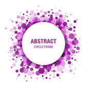 Purple - Violet Abstract Circle Frame Design Element — Stock Vector