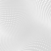 Light Gray White Distort Halftone Square Background — Stock Vector