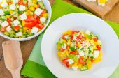 Salade bulgare à la feta — Photo