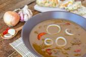 Beef goulash with homemade dumplings — Foto de Stock
