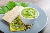Avocado-Buttermilk Green Goddess Dip — Stok fotoğraf