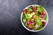 Fresh mixed salad with endive and cherry — Stock Photo