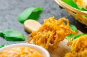 Crispy Onion Bhajis — Stockfoto