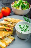 Chicken quesadilla — Stock Photo
