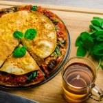 Vegetarian tortilla and bolognese sauce — Stock Photo #55104075