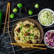 Asian chicken noodles salad — Stock Photo #55763829