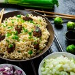 Asian chicken noodles salad — Stock Photo #55764813
