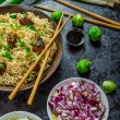 Asian chicken noodles salad — Stock Photo #55765923