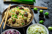 Asian chicken noodles salad — Foto de Stock