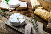 Camembert, soft cheese with homemade pastries — Stock Photo